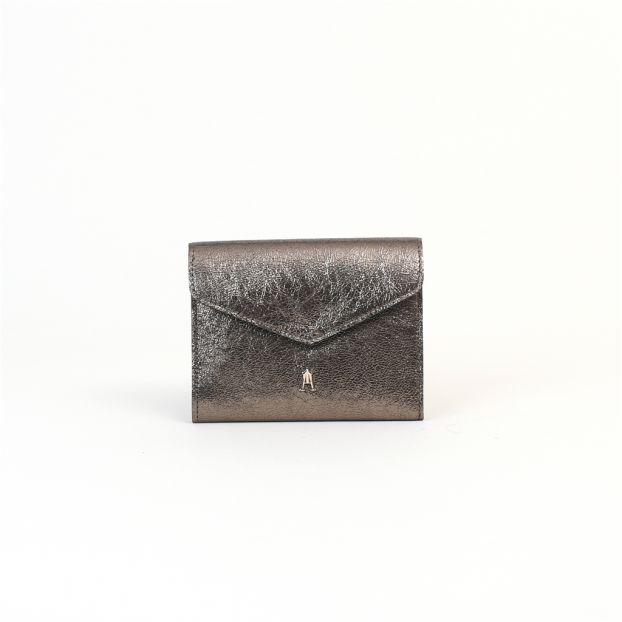 porte monnaie pliage métal kaki craie