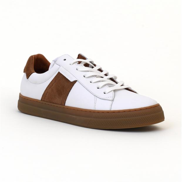 chaussures bateaux spark granger white/cognac Schmoove